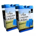 MEC Home Freezer Blocks Family Pack (x6 Blocks) - Keeps Food and Drink Cooler for Hours