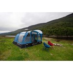 Vango Unisex - Adult Hudson 600 Camping Tent Camping Family Tent Sky Blue 6 Person