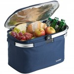 VonShef 22L Cooler Bag - Large Insulated Cooler Bag for Outdoor Use, Picnic Camping, Beach - Blue