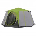 Coleman Tent Octagon, 6 to 8 man Festival tent, large Dome Tent with full standing head height, 100% waterproof Family Camping Tent with sewn in groundsheet