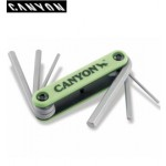 Canyon 6-Piece Folding Hex Key Set (652)