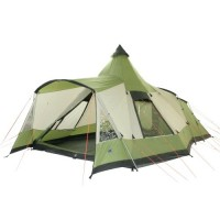 10T Outdoor Equipment Waterproof Navaho 470 Plus Unisex Outdoor Tunnel Tent available in Green - 5 Persons