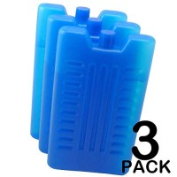 Pack of 3/6 - Freezer Blocks - Reusable - Size 16 x 9 x 2 CM (approx) (Pack of 3)