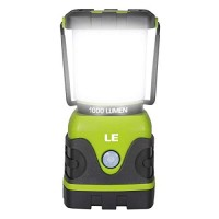 LE Camping Lantern, 1000 Lumen Dimmable LED Outdoor Lights, 4 Modes Battery Powered Emergency Light, Water Resistant Tent Lights for Camping, Hiking, Fishing, Power Cuts and More