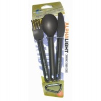 Sea to Summit Alpha Light Cutlery –3pc Knife, Fork & Spoon Set