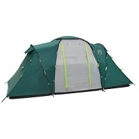 Coleman Unisex Vis-a-vis Spruce Falls 4 Plus Tent, Green and Grey, One Size