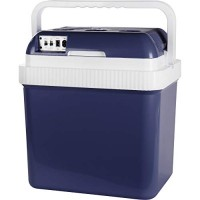 Electric DC/AC Hot or Cold Cool Box Blue 24 Litre Capacity - For Camping, Caravans, Picnics and Festivals