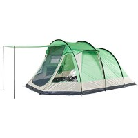 Skandika Unisex's Lyon Family Tunnel Tent-Sand/Green, 5 Persons