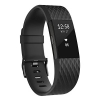 Fitbit Charge 2 Activity Tracker with Wrist Based Heart Rate Monitor - Gunmetal/Large