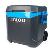 Igloo Maxcold Island Breeze 62 Quart 58 Liter Rolling Cool Box Ice Drinks Food Cooler