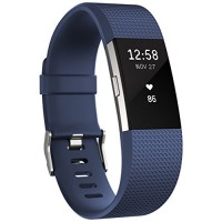 Fitbit Charge 2 Activity Tracker with Wrist Based Heart Rate Monitor - Blue/Small