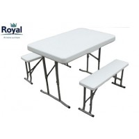 Royal White Trestle Picnic Set (355419)