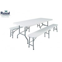 Royal White Trestle Picnic Set XL (355423)