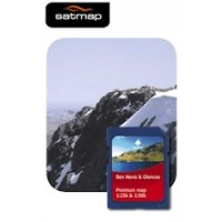 Satmap Ben Nevis/Glencoe 1:25k & 1:50k Map Card