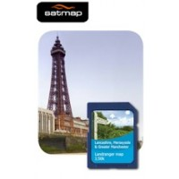 Satmap English Counties - Lancashire, Merseyside, Manchester 1:50k Map Card