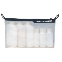 Sea to Summit TPU Clear Zip Pouch with Leak Proof Bottles