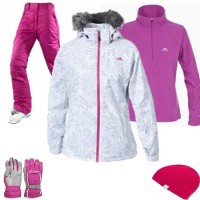 Trespass Sugarloaf Women's Ski Wear Package - White