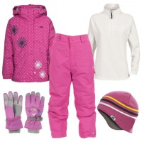 Trespass Candy Pop Girl's Ski Wear Package - Bubblegum
