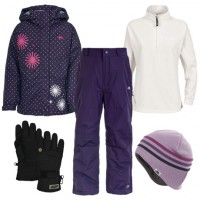 Trespass Candy Pop Girl's Ski Wear Package - Wildberry